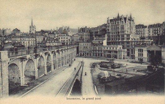 Photo Lausanne Le Grand Pont La Place Et La Gare Du